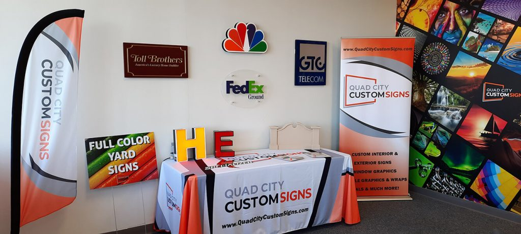 Customized Lobby Signs by Quad City Custom Signs in Davenport, IA