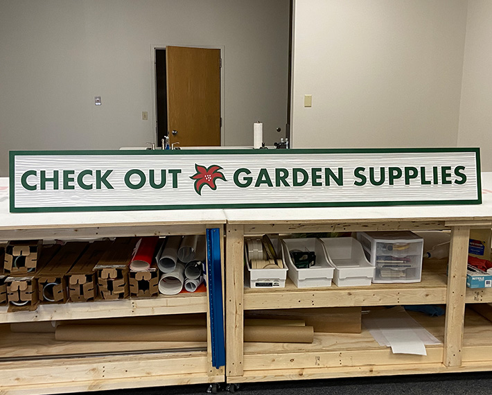 Custom Routed Sign in Davenport